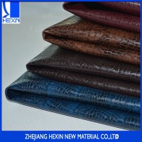 Hot sales aligator leather 1.0 MM pu synthetic leather for sofa, chairs, wall and door covers