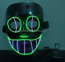 Light Up EL Mask,EL Wire Mask,feather mask for party decoration