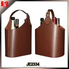 Wholesale wine carriers 3 bottle Wine Carrier leather wine bag carrier