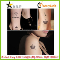 2015 elegant crown gold silver black custom tattoo supply