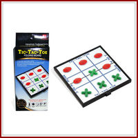 Foldable Magnetic kids intelligence toys tic tac toe game pieces