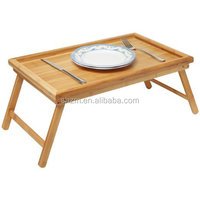Luxurious Breakfast in Bed Bamboo Lap Tray/ Kids Floor Table With Folding Legs