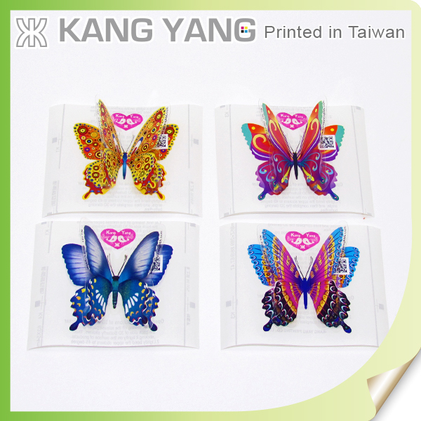 3D butterfly stickers - insect shape transparent waterproof 3d butterfly stickers