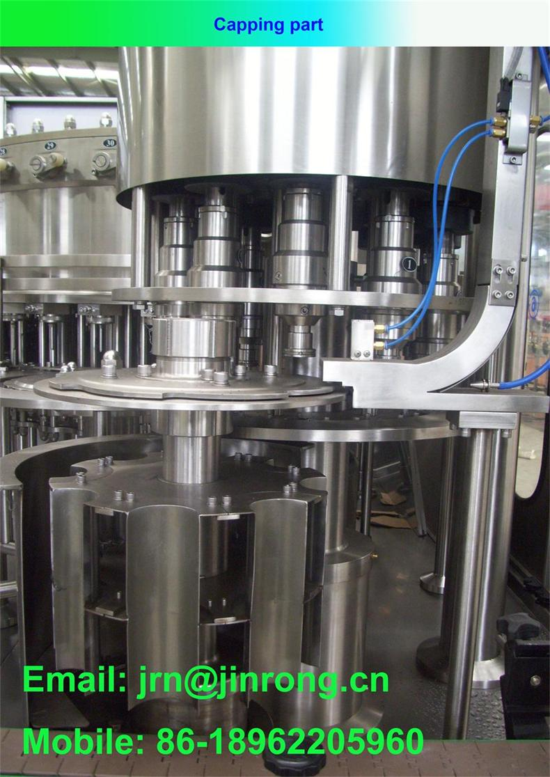 Automatic carbonated drink washing filling capping 3 in 1 machine