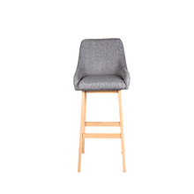 TR-233 Comfortable fabric with backrest armrest High feet bar stool
