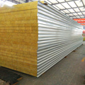 Metal wall roof materials sandwich panel with rock wool