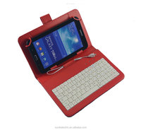 2016 android micro usb keyboard tablet case 7'' 8'' 9.7'' 10'' 10.1'' tablet cover with wired keyboard for Samsung Tab4
