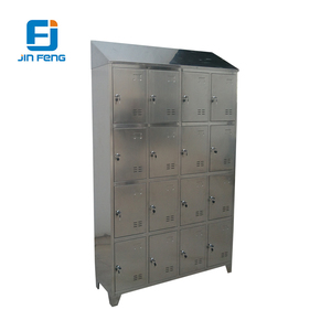 16 Door Rustproof / Stainless Steel Closet Locker