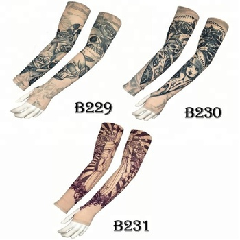 KaPin outdoor sports sun protection elastic cool lycra tattoo custom printed arm sleeves