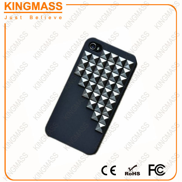 Popular stud phone case for apple iphone 4/4S