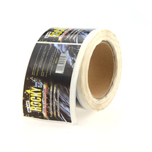 Custom printing destructible vinyl sticker roll label high quality stickers