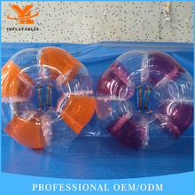 Factory outlet Mid-color Human Inflatable Bumper Bubble Ball