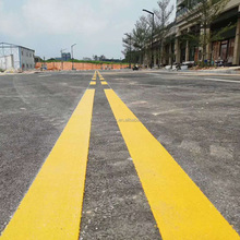 White reflective hot melt eco asphalt road line marking paint
