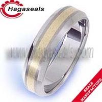 Tungsten Carbide Round Men's Jewery Ring