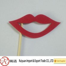 new coming popular different shapes red lips felt material photo booth props