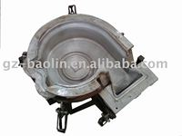 CNC aluminum rotational mold for plastic fan shell