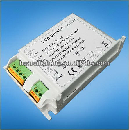 Hot sells pwm dimmable led driver Constant Voltage DC12V 45W