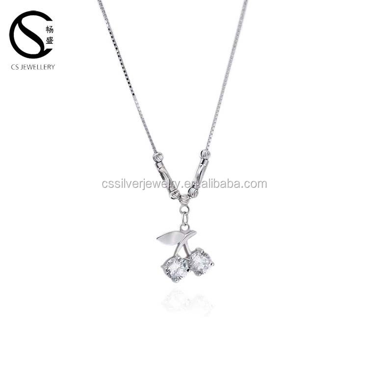 New Cute 925 Sterling Silver Novel Necklace jewelries Wholesale