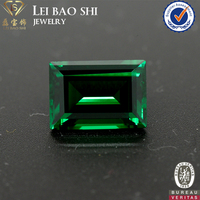 AAA/AAAAA Grade(Korean machine cut) Nano Green Emerald Cut Synthetic Diamond