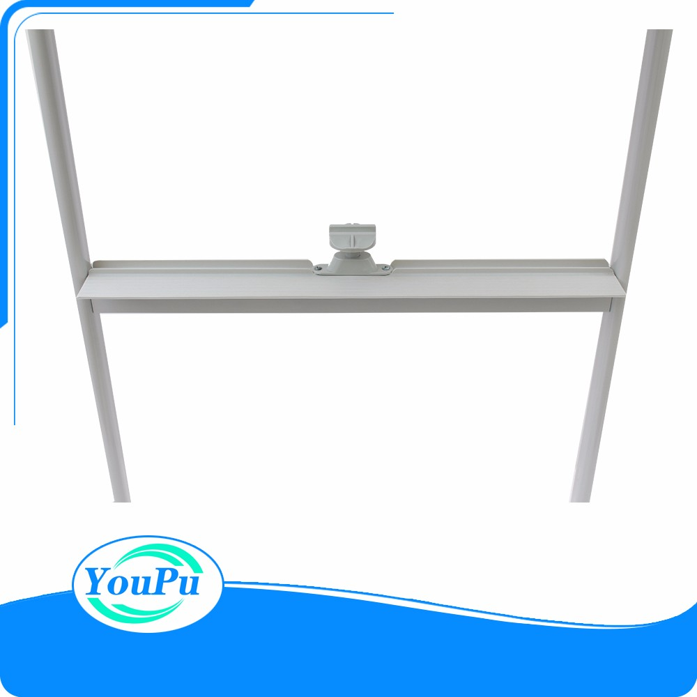 Sliding magnetic white board, mobile whiteboard with wheels