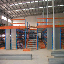 warehouse storage rack metal 2 floors heavy duty mezzanine floor with stairway