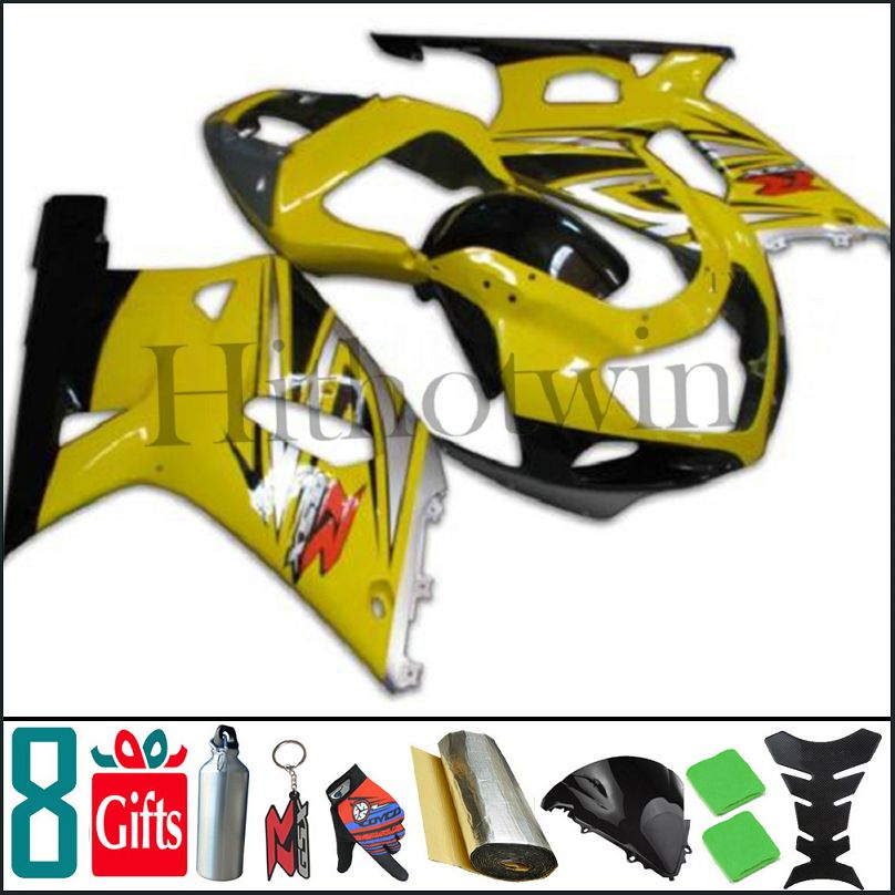 K1 2001 2002 2003 GSXR600 750 2004 Body Kit Fairing Bodywork For Suzuki yellow black GSXR 600 <strong>01</strong> 02 GSXR 750 03 GSXR-600 <strong>01</strong>-03 <strong>G</strong>