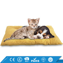 Two Sizes Bone Shape Pattern Soft Cotton Pet Cat Dog Bed Cushion