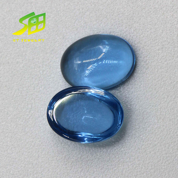Blue 4*6mm oval cabochon 32# Synthetic Sapphire