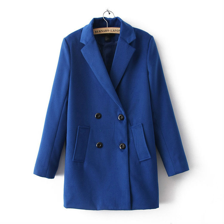 C10765B EUROPEAN HIGH QUALITY AUTUMN/WINTER FASHIONAL CONCISE WOMEN'S WIND COAT