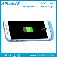 used mobile phone 2016 new products 4200mah External battery case for samsung Galaxy s6 backup power bank charger