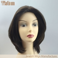 New Arrival Brush Back European Human Hair Jewish Wigs