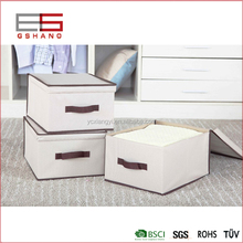 Foldable polyester Fabric Storage Box, Convenient Storage Box with Lid