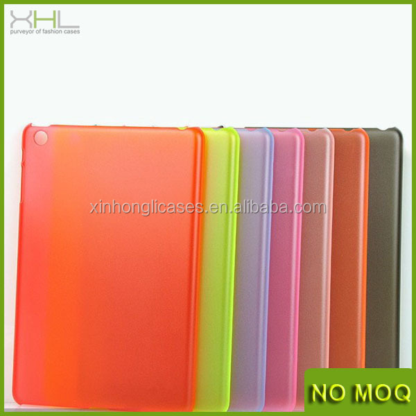 Custom design 0.4mm matte pc case for ipad mini, skin pc case cover for ipad mini