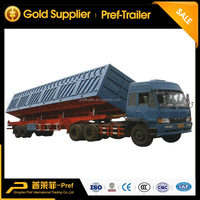 50 tons double axle side tipping trailer dimentions/ self tipper trailers/ side dump semitrailers for transportation