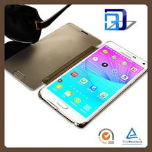 Alibaba Chinese Supplier Mirro case Operating Without opening the flip cover For Samsung Galaxy note 4 lowest price