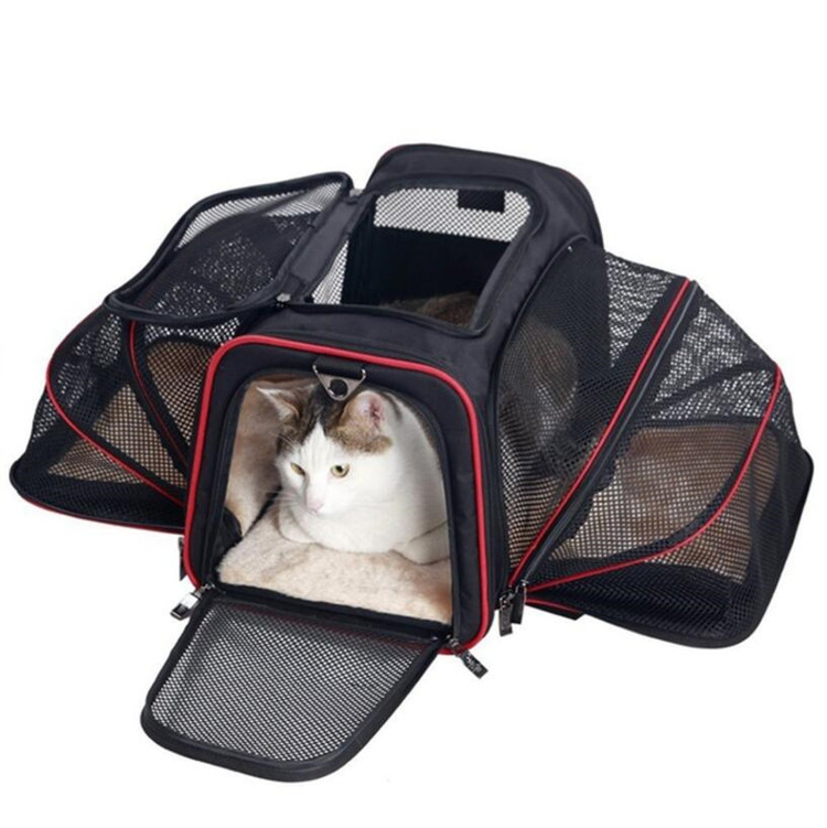 Foldable Airline Approved Dog Travel Bag for Car Expandable Pet Carrier