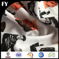 best quality digital printed 100% cotton knitting fabric for men shirt