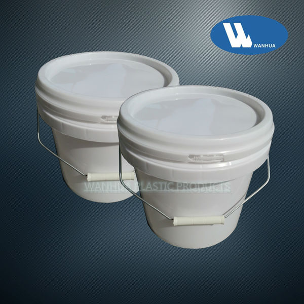 5L construction plastic bucket with handle
