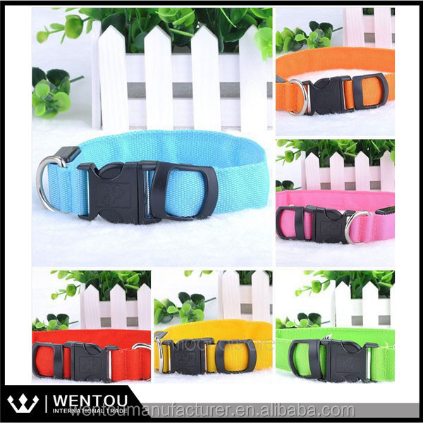 Pet Cat Dog LED Collar Safety Glow Necklace Flashing Lighting Up Harness Training Collars for Dogs
