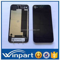 [win part]New Top quality Glass cell phone Replacement Back for iphone 4s battery door cover