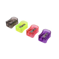 fashion fresh color plastic pencil sharpener for kid student office