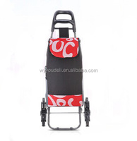 Strong frame Pintage Polka Dot printing shopping trolley for advertising ,cheap,fashion ,can moving with wheels to shopping