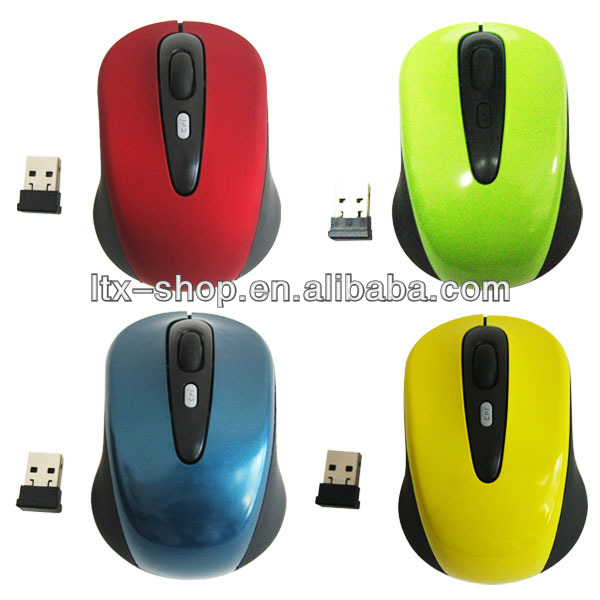 Support Mixed Color small Order Gift Box Package Super Slim 1000/1200/1600 DPI 4 Keys Optical 2.4G Wireless Mouse