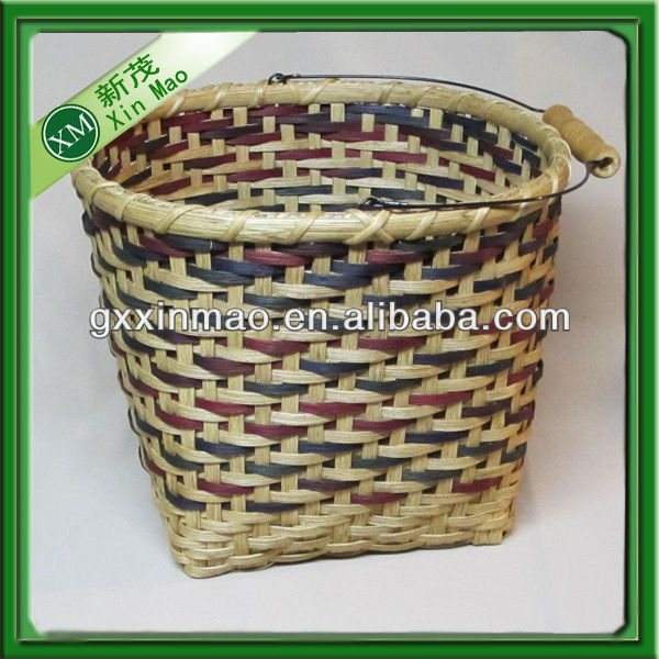 cheap hand weaving bamboo rice basket wholesale