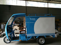 Heavy Delivery Van Cargo Tricycle with Roof for sale