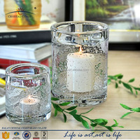 unique shape bubble decorative glass candle containers