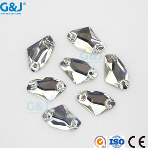 Guojie brand wholesale special irregular shape bright white pointback resin stone