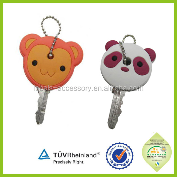 OEM Factory Double Sides Logo promo gifts custom pvc key cover