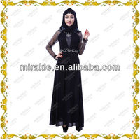 MF21272 high-quality twill fabric abaya kaftans wholesale 2013