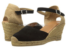 Womens Comfort Hemp Shoe Sexy Ladies Espadrille Wedge Shoes High Heel
